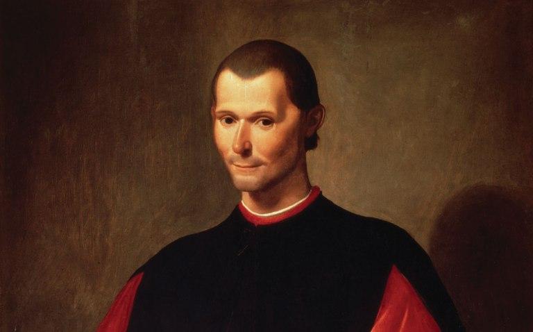 niccolo machiavelli, de beroemde italiaanse politiek filosoof, geschilderd door santi di tito