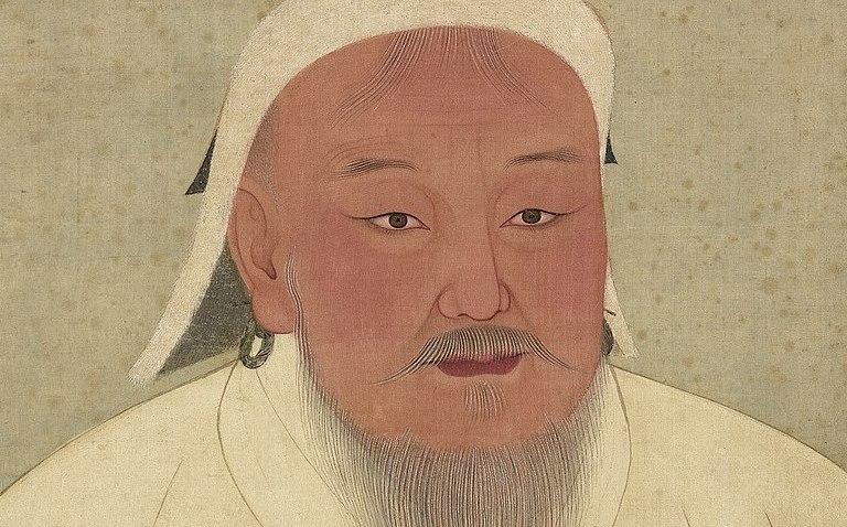 genghis khan, geschilderd na zijn dood onder toezicht van kleinzoon khubilai