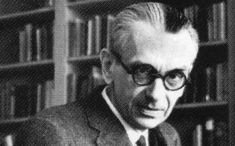 kurt gödel op het institute for advanced study, auteursrecht pictorial press ltd, alamy stock photo